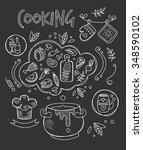 cooking vector illustration ... | Shutterstock .eps vector #348590102