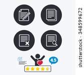 file document icons. search or... | Shutterstock .eps vector #348599672