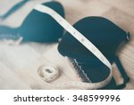 bra with centimeter for... | Shutterstock . vector #348599996