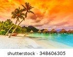 bora bora  french polynesia.... | Shutterstock . vector #348606305
