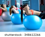 group of people in a pilates...   Shutterstock . vector #348612266