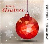 merry christmas ball easy all... | Shutterstock .eps vector #348613556