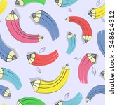 vector pattern with colorful... | Shutterstock .eps vector #348614312
