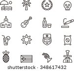 cuba outline icons | Shutterstock .eps vector #348617432
