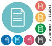 flat document icon set on round ... | Shutterstock .eps vector #348618068