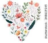 wreath illustration made of... | Shutterstock .eps vector #348619145