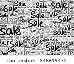 sale word cloud background ... | Shutterstock .eps vector #348619475