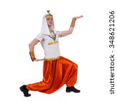 dancing pharaoh wearing a... | Shutterstock . vector #348621206