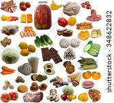 food collection. | Shutterstock . vector #348622832