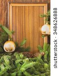christmas composition and... | Shutterstock . vector #348626888