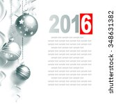 new year greeting card with... | Shutterstock . vector #348631382