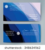 stylish business cards with... | Shutterstock .eps vector #348634562