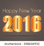 2016 happy new year elegant... | Shutterstock .eps vector #348636932