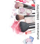 set of  make up brushes ... | Shutterstock . vector #348637592