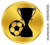 Football Cup   Gold Vector Icon