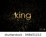 golden splashes on black... | Shutterstock .eps vector #348651212