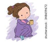 illustration of a cute girl...   Shutterstock .eps vector #348659672