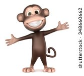 3d Rendering Of A Monkey In...