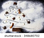 Christmas Tree Made Of Flour ...
