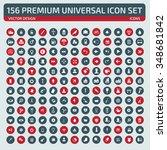 156 premium universal icon set... | Shutterstock .eps vector #348681842