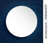 vector white round frame. stars ... | Shutterstock .eps vector #348686495