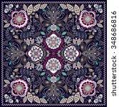 design for square pocket  shawl ... | Shutterstock .eps vector #348686816