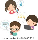 review people | Shutterstock .eps vector #348691412