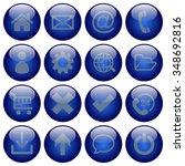 basic web button set in round...