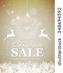 christmas sale design with... | Shutterstock .eps vector #348694592