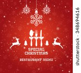 special christmas restaurant... | Shutterstock .eps vector #348694616
