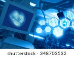 modern equipment in the... | Shutterstock . vector #348703532