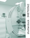 Small photo of Cath lab equipment in modern hospital