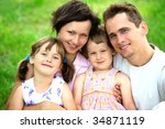 family outdoors | Shutterstock . vector #34871119