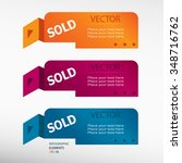 sold message on origami paper...   Shutterstock .eps vector #348716762