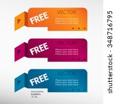 free message on origami paper... | Shutterstock .eps vector #348716795