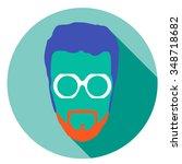super hero mask glasses... | Shutterstock .eps vector #348718682