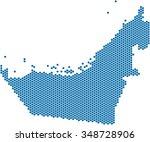 blue circle shape united arab...   Shutterstock .eps vector #348728906
