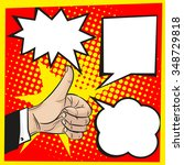 thumbs up with speech bubbles... | Shutterstock .eps vector #348729818