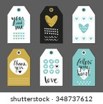 set of cute creative gift tags... | Shutterstock .eps vector #348737612