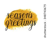 seasons greetings card  poster... | Shutterstock .eps vector #348743675