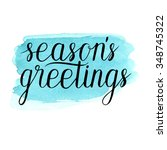 seasons greetings card  poster. ... | Shutterstock .eps vector #348745322