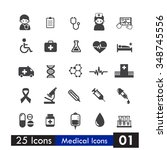 set of 25 icons health and... | Shutterstock .eps vector #348745556