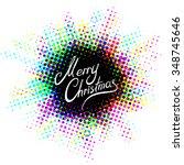 merry christmas halftone... | Shutterstock .eps vector #348745646