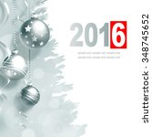 new year greeting card with... | Shutterstock . vector #348745652
