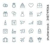 wedding vector icons set | Shutterstock .eps vector #348749066