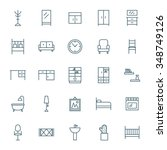 interior vector icons set | Shutterstock .eps vector #348749126