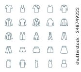 clothes vector icons set