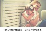 happy loving family. mother and ...   Shutterstock . vector #348749855