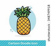fruits pineapple doodle | Shutterstock .eps vector #348749918