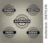 set of approval grunge rubber...   Shutterstock .eps vector #348751196